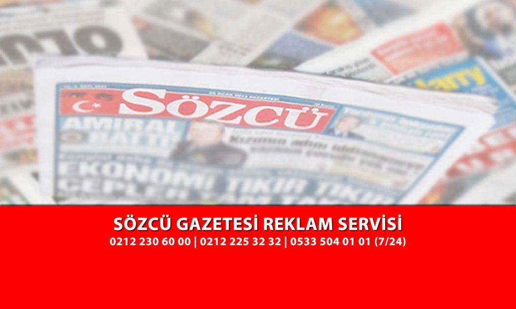 Sözcü Gazetesi İlan Servisi